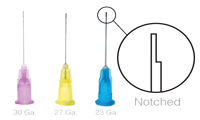 Endo Irrigation Needle Tips - Notched - Pacdent