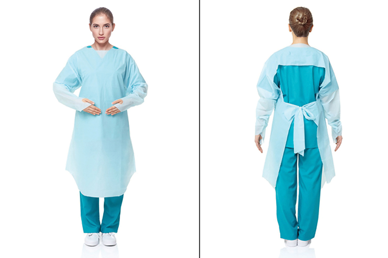 CPE Isolation Gowns Thumb Loop 35 GSM