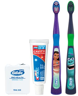 Oral-B Youth Kids 3+ Years Manual Toothbrush Solution Bundle