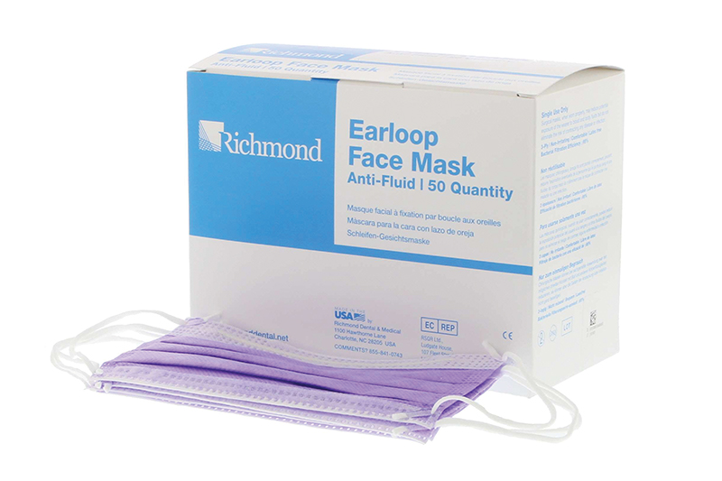 Earloop Fluid-free Face Mask - ASTM1