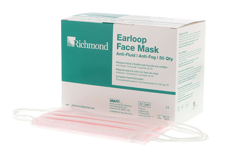 Fog-Free Earloop Face Masks - ASTM1