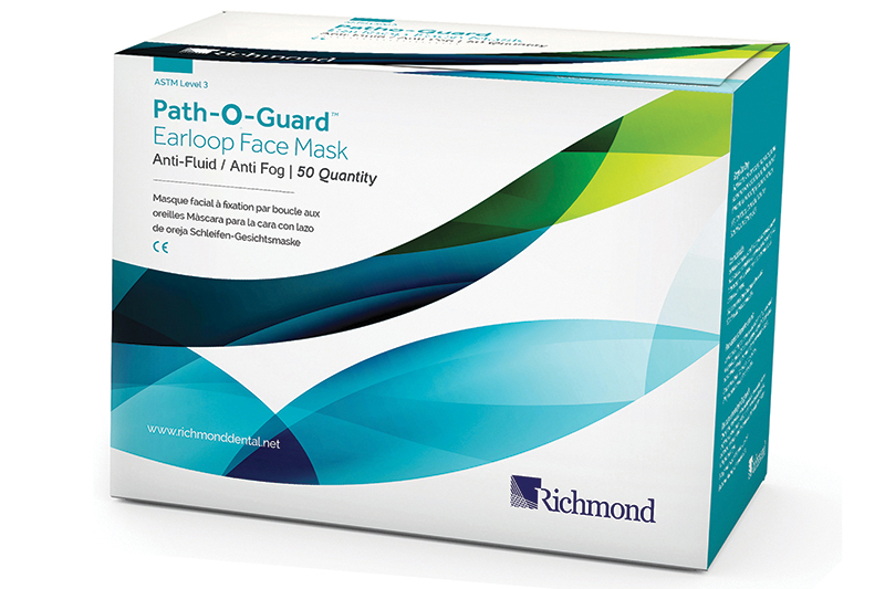 Path-O-Guard Fluid-free and Fog-free Earloop Face Mask - ASTM3