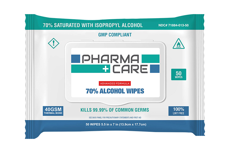 PharmaCare Hand and Surface Disinfectant Wipes ON ALLOCATION