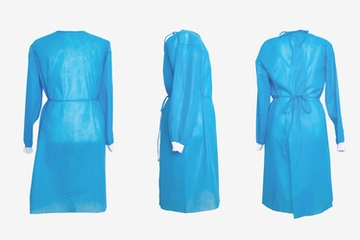 Tie-back Non-woven Isolation Gown - Knitt Cuff - 40 GSM